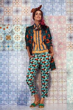 Stella Jean you've got my number. Part of the Spring Summer 2014 Stella Jean Collection. Stella Jean, African Inspired Fashion, African Fashion, African Style, Ankara Fashion, African Women, Mode Outfits, Fashion Outfits, Fashion Weeks