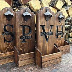 Personalized Rustic Bottle Openers, Groomsmen Gifts
