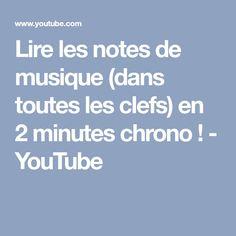 Lire les notes de musique (dans toutes les clefs) en 2 minutes chrono ! - YouTube