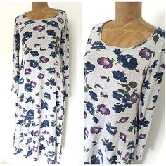 Vintage 90s Floral Grunge Dress Size Medium Jersey Cotton Rockstar Maxi BOHO #Unknown #Maxi #Casual