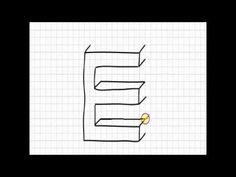 Dibujar letras en 3D - YouTube