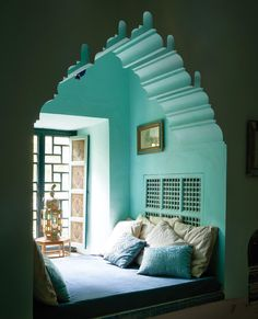 [New] The 10 Best Home Decor (with Pictures) - beautiful moroccan style alcove at Palais de la Zahia Marrakech via . Modern Moroccan Decor, Moroccan Decor Living Room, Moroccan Room, Moroccan Interiors, Moroccan Design, Moroccan Style, Moroccan Colors, Moroccan Kitchen, Easy Home Decor