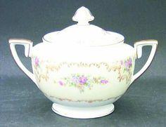 Noritake Melrose (Gold Trim, Rim) Sugar Bowl