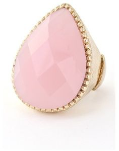 #The Northern Sea         #ring                     #Pink #Teardrop #Ring #Northern                     Pink Teardrop Ring | The Northern Sea                                         http://www.seapai.com/product.aspx?PID=451471