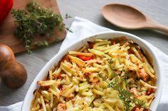 Lohkoperunat uunissa - Ruoka & Koti Pasta Salad, Cabbage, Food And Drink, Vegetables, Ethnic Recipes, Red Peppers, Crab Pasta Salad, Cabbages, Vegetable Recipes