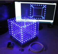 3D LED Matrix 8x8x8 (Cube) C-512 Model-103