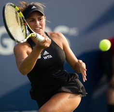 One of the most important things that you will ever hear when you are playing tennis is to keep your eyes on the ball. Monica Puig, Female Volleyball Players, Tennis Players Female, Sport Tennis, Play Tennis, Puerto Rico, Fit Girls Bodies, Beautiful Athletes, Girls Golf