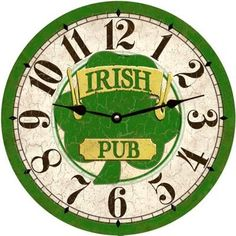 Irish Pub Clock Face