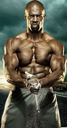 """The Terry Crews Workout has remained constant over the years. From the NFL to The Expendables, its all about getting your body ready to rock the """"Gun Show. Men's Health Fitness, Muscle Fitness, Fitness Man, Muscle Building Tips, Build Muscle, Pop Workouts, Terry Crews, Celebrity Workout, The Expendables"""