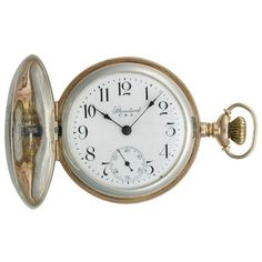 Pre-owned Standard Sterling Silver Unisex Pocket Watch ($788) ❤ liked on Polyvore featuring jewelry, watches, white wrist watch, white watches, rose jewellery, sterling silver watches and rose jewelry