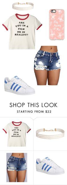 """""""Tumblr 1 ♡"""" by ashyrosepetal on Polyvore featuring Humble Chic, adidas and Casetify"""
