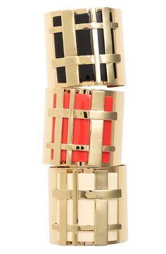 Tory Burch Gingham Cuff Bracelets