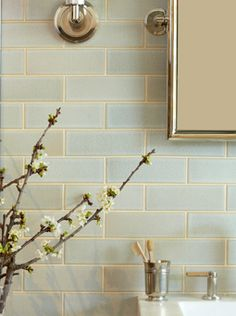 I like the subtle variation of colors using a simple tile shape. Kitchen?   Ann Sacks Collection - Ann Sacks Collection - Ann Sacks Tile & Stone
