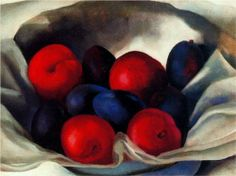 Georgia O'Keeffe. Plums......seems georgia o'keefe's paintings really appeal to me this is the second one i have seen and really liked