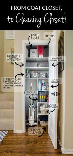 37 Ideas For Cleaning Closet Shelves Storage Ideas Laundry Closet Organization, Cleaning Closet, Closet Storage, Kitchen Storage, Bedroom Organization, Closet Shelves, Linen Closet Shelving, Bathroom Storage, Hallway Storage