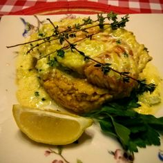 Salmon on a bed of pumpkin risotto and topped with hollandaise sauce (from Dolch Eh! In Brantford Ont)