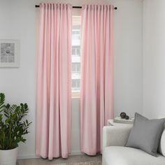 Living Room Decor Curtains, Room Darkening Curtains, Thick Curtains, Drapes Curtains, Pink Bedroom Curtains, Blackout Curtains, Pink Curtains Nursery, Pink Bedroom Decor, Bedroom Ideas
