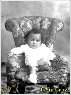 Celia Cruz when she was a baby. Spanish Music, Latin Music, Cuba Music, Vintage Black Glamour, Black Actors, Female Hero, Music Icon, Puerto Ricans, African American History