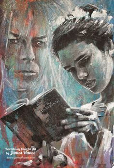 """""""It's Only Forever"""" Labyrinth art print by James Hance, $15, Jennifer Connelly as Sarah and David Bowie as Jareth ,Labyrinth movie with Davie Bowie Labyrinth Movie 1986"""