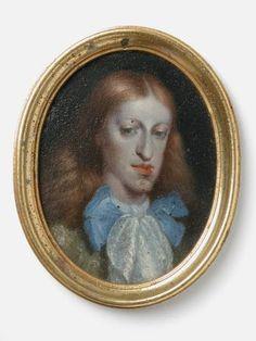 CARLOS II de Austria (1661 - 1700), Rey de las Españas y de las Indias entre 1665 y 1700. / Miniatura de Juan Carreño de Miranda.