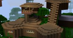 minecraft treehouse - Google Search