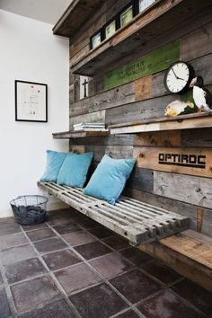 Pallet sides are often forgotten in the process of recycling - we decided to do something about that! We wanted to decorate the end wall of our new showroom, and ended up using pallet sides with no o