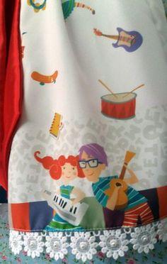 9f79c7721b Vestido Palavra Cantada Infantil Luxo Tam. 01 ao 14. - Tia Gina Vestidos  Infantis