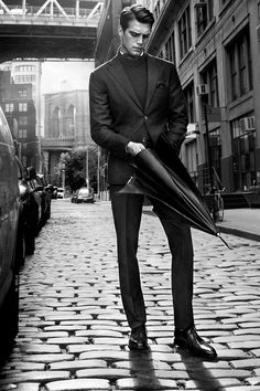A gentleman has an umbrella in the rain Deb Rich via Eve G onto Men men and men!!!