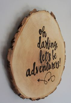 Love this wooden wall plaque art!