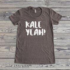 Vegan Shirt - Kale Yeah! - Vegan T-Shirt