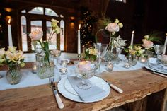The-Wedding-of-my-Dreams-Romantic-Glamour-Tablescape: wedding florist Passion for Flowers