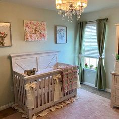 Rustic Baby Cribs, Wooden Baby Crib, Rustic Crib, Baby Crib Diy, Wooden Cribs, Baby Crib Sets, Pink Crib Bedding, Girl Nursery Bedding, Crib Bumper Set