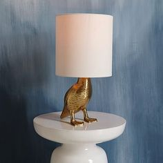 Rachel Kozlowski Mallard Duck Table Lamp #westelm - I kinda wish there was a face inside.  this might bug me!