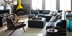 placement of furniture, create a mini living space in a great room