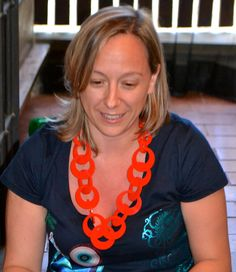 People wearing Carla Matos Polychain  Red necklace - www.scicche.itwww.scicche.it