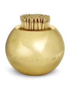 Light up someone's life with a gold crystal match holder (and striker) from Aerin Lauder's new line of home accessories at Neiman Marcus. Decorative Accessories, Home Accessories, Decorative Objects, Fireplace Accessories, Aerin Lauder, Home Collections, Decoration, Popsugar, Neiman Marcus