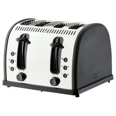 Russell Hobbs Vintage 4 Slice Toaster - Charcoal