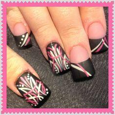 Pinstriped nails 2 by Oli123 - Nail Art Gallery nailartgallery.nailsmag.com by Nails Magazine www.nailsmag.com #nailart
