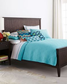 """""""Santorini"""" Bed Linens by Trina Turk at Neiman Marcus."""