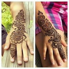 Simple yet elegant. Totally amazing henna patterns or Mehndi beauty then Click Visit link above for more options Pretty Henna Designs, Mehndi Designs For Kids, Mehndi Design Pictures, Best Mehndi Designs, Beautiful Mehndi Design, Simple Mehndi Designs, Bridal Mehndi Designs, Henna Tattoo Designs, Mehndi Images