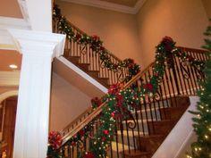 Luxury Christmas Stairs Decorating