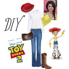 Went all out this year and made my own diy jessie the cowgirl diy halloween costume jessie add a cow print purse solutioingenieria Images