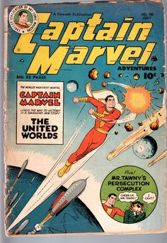Captain Marvel Adventures 98 1949 Fawcett Shazam Golden Age Comic G G   eBay