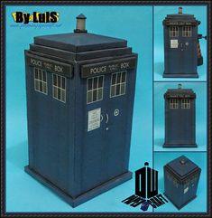 Doctor Who - TARDIS Ver.7 Free Papercraft Download - http://www.papercraftsquare.com/doctor-tardis-ver-7-free-papercraft-download.html