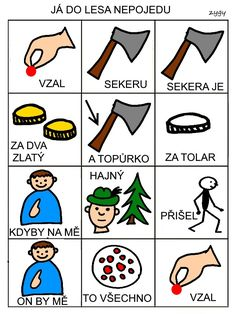 Pro Šíšu: Ja do lesa nepojedu Pictogram, Montessori, Playing Cards, Language, Education, Learning, Books, Van, Culture