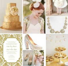 Gold cakes, glittery pumps, gilded invitations, more