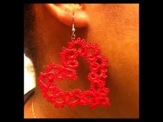 ITS TIME TO TAT (Heart Earrings)  TUTORIAL FROM OVW - She's great to follow!