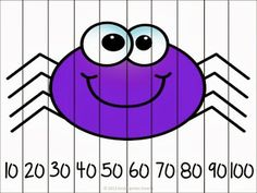 Halloween Counting Number Puzzles $