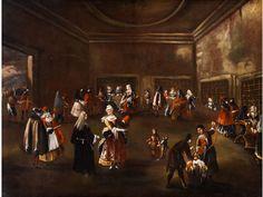 PARLATORIUM DER NONNEN Öl auf Leinwand. 114 x 148 cm. Beiliegend eine Expertise von Ferdinando Arisi. Joseph Heintz war der Sohn des Malers Joseph Heintz d....
