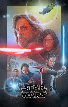 Star Wars: The Last Jedi - Created by Neil Davies Rey Star Wars, Star Wars Fan Art, Memento Movie, Star Wars History, Best Movie Posters, Aliens Movie, The Phantom Menace, Pop Culture Art, Star Wars Wallpaper